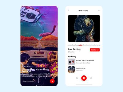 Music Player App minimalist psycho uxdesigner metallica playerapp musicplayerapp uidesigns uxui ui design uxdesign minimal app ux design ui illustration