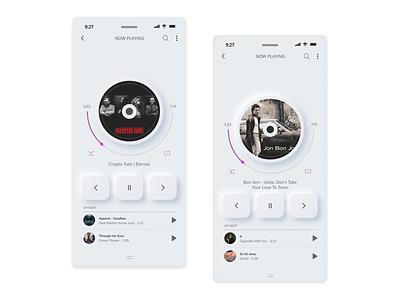 neumorphism music player ui music player ui neumorphism neumorphism music player music app music player musicplayer uxdesign uidesigns ui design minimal playerapp app