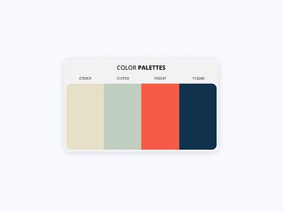 Color Palattes design playerapp uidesigns app logo illustration uxdesign ui design ui minimal