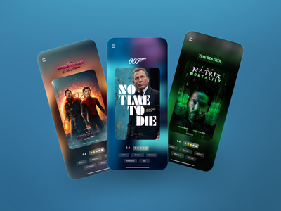 Movie Schedule App UI app minimal uidesigns ui design matrix spiderman jamesbond movies chinema movie graphic design ui