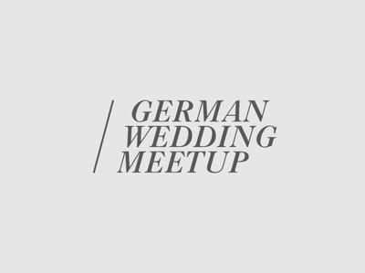 Huefner Design | Logo German Wedding Meetup