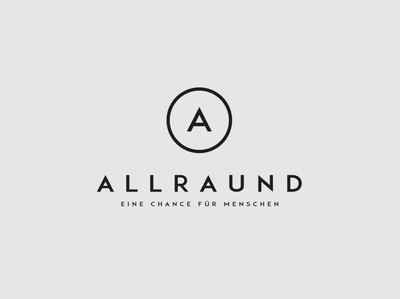 Huefner Design | Logo allrAUnd gGmbH