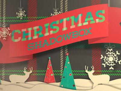 Christmas shadowbox fluxvfx dribbble