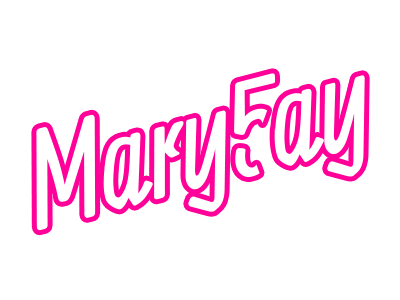 MaryFay's 5th logo typographic typography name outline