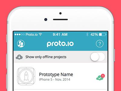 Proto.io App mobile app prototype player