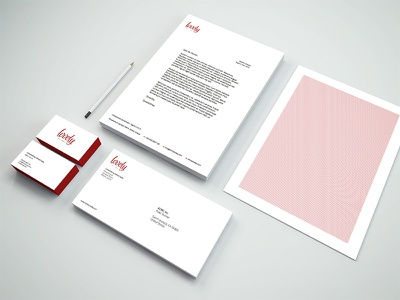 Lovely Stationary letterhead business cards logo identity stationary