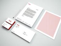 Lovely Stationary letterhead business cards logo identity stationary