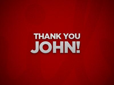 Thank you John!