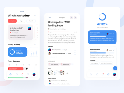 Task management APP typogaphy layout interface application ipone android ios colaboration remotework team managment time minimal app ux ui design