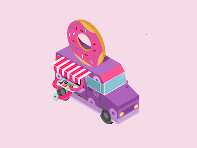food truck game icon game design game art isometric design illustration art illustrator food trucks car isometric illustration isometric art illustration vector illustration food truck