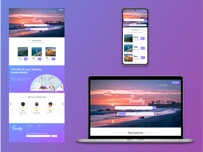 Travelly - website for travel and holiday reservation affinity designer website web design uidesign web figma ux ui