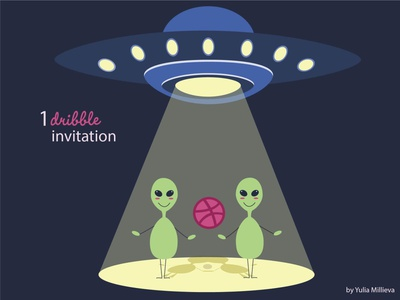 Dribble invitation light plate ufo alien dribble invitation invite