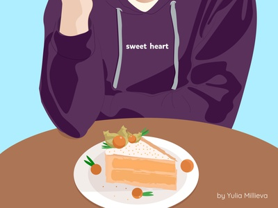 Digital portrait part 2. The cake of smiling guy. cakery cakes sweet heart pie digital art digital dreams sweet physalis cake print illustration characters
