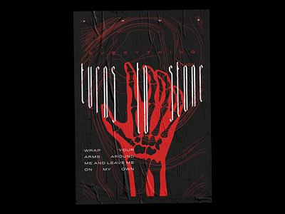 """Blessed With A Curse"" Poster fade vector illustration illustrator grunge halftone blackletter typography design print design print poster art poster design poster graphic design"