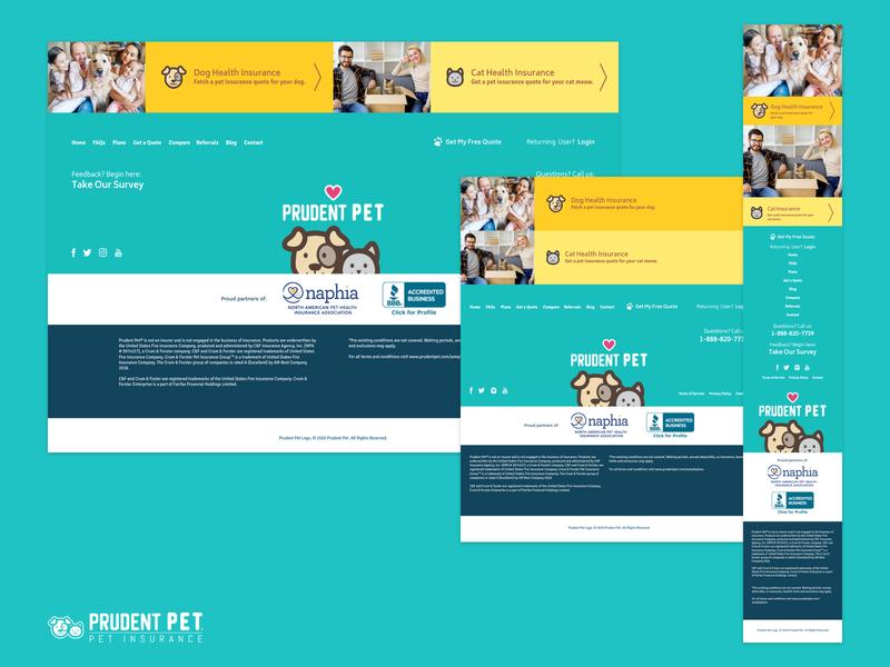 Prudent Pet Footer branding pets marketing ui design ux ui design footer design footer insurance pet insurance pet