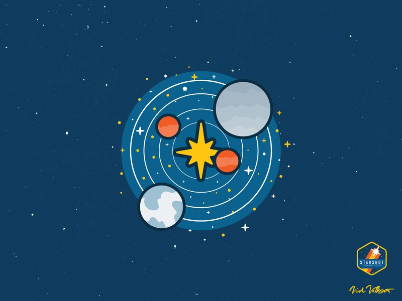Starshot About Page Spot Illustration outerspace space illustrator icon design branding development startup spot illustration icon illustration
