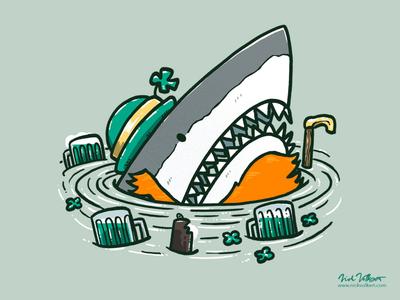 St Patrick's Day Shark