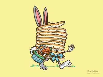 Captain Eastercakes carrots football running back running captain pancake pancakes holiday eggs rabbit bunny easter