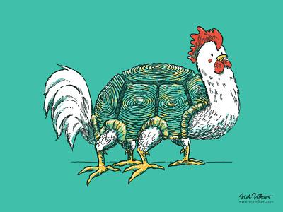 The Churtle illustration my god why wtf animal mashup threadless turtle chicken