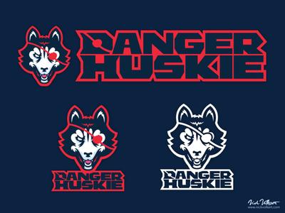 DangerHuskie Logo logotype vectorart vector illustrator illustration branding logo design logo husky huskie