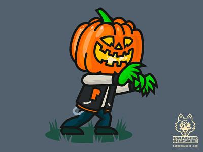 The Varsity Pumpkin vector art vector illustrator illustration halloween jack o lantern spooky creepin pumpkin varsity jacket varsity