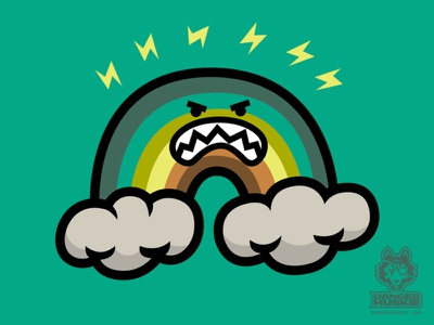 The Angry Rainbow illustrator illustration art rainbow vector gritting teeth seething mad angry