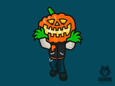 Varsity Pumpkin Creepin letterman jacket october horror jack o lantern pumpkin halloween vector illustration jacket varsity