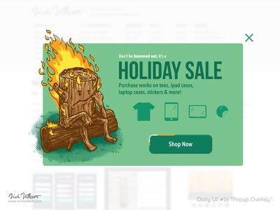 Daily UI #016 Pop up overlay illustration design overlay popup ui daily ui