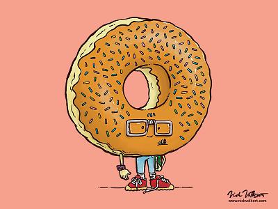 Nerd Donut donut glasses school dork illustration awkward nerd