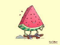 The Watermelon Slice Skater
