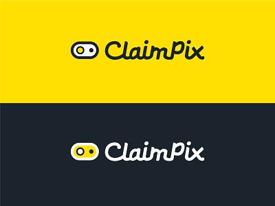 Claimpix Logo vector art claims insurance yellow black vector logo design logo