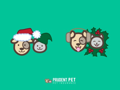 Prudent Pet Holiday Logos