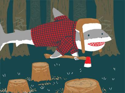 Dribbble lumberjackshark