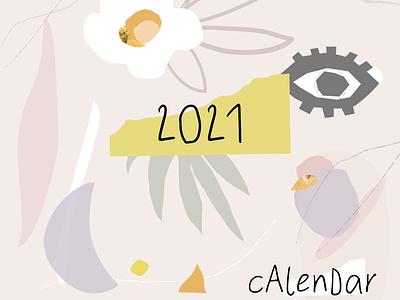 ARTSY CONTEMPORARY CALENDAR COVER textures abstract background caricature shape art concept contemporary calendar branding pattern boho bohemian artsy illustration cute cartoon artistic