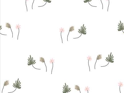 LITTLE BOTANICALS SEAMLESS PATTERN wallpaper freehand palm leaf sketch boho tropical graphic cute hand drawn doodles illustraion botanical art floral florals flowers background seamless pattern surface design