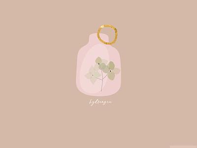 Dry hydrangea branding feminine blush botanical botanic floral art dry delicate artsy logo jewelry gold foil hydrangea floral design flower chic illustration boho floral bohemian