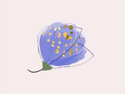 Hibiscus blue flower artsy botanical hibiscus flower design chic blush cute illustration floral bohemian artistic