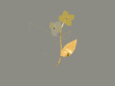 hydrangea artistic art botanical autumn feminine hydrangea flower artsy boho bohemian doodle gold foil chic illustration floral