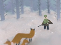 The Hunter and the Fox design stop motion