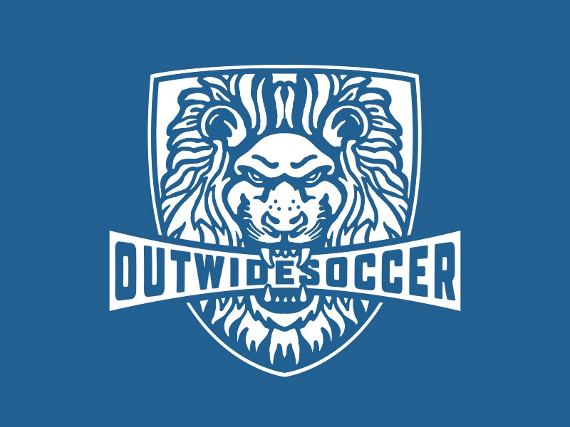 Outwide Soccer branding printing design illustration