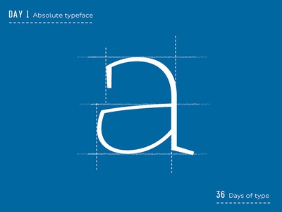 A typeface design illustration typeface