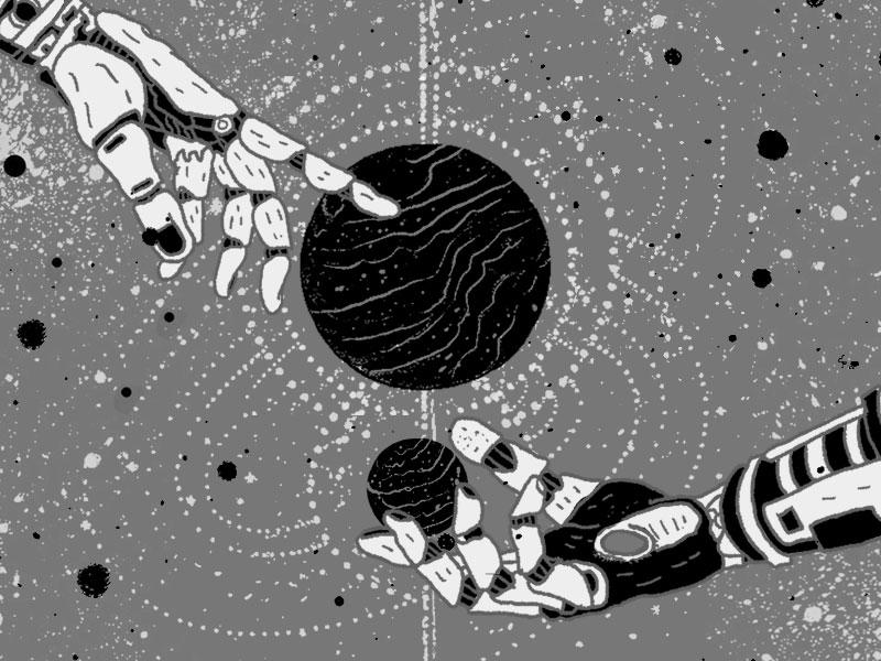 Dualism motion design illustration duality