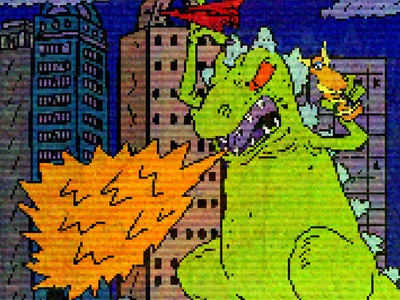 Reptar Little Monsters 8bits design nickelodeon