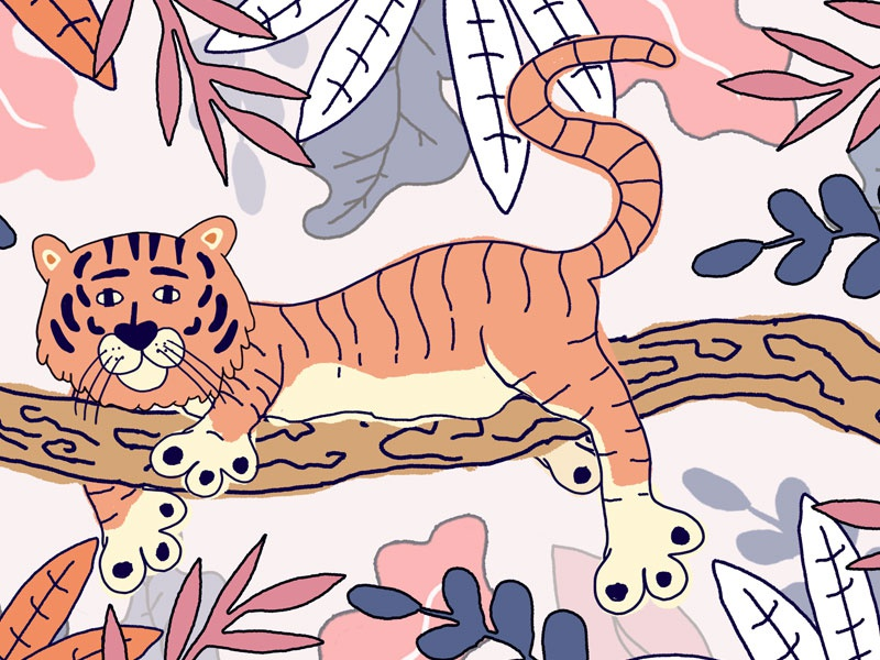 Queen of the jungle- Kids Collaboration kids collaborate tiger