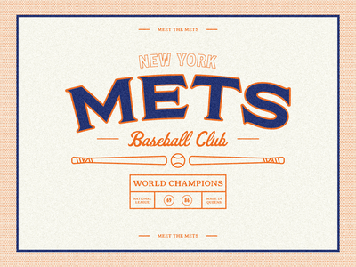 Meet the Mets, Meet the Mets... lgm mlb mets baseball lettering branding design illustration graphic design branding design