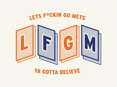 LFGM mlb mets baseball minimal retro illustrator illustration graphic design branding design