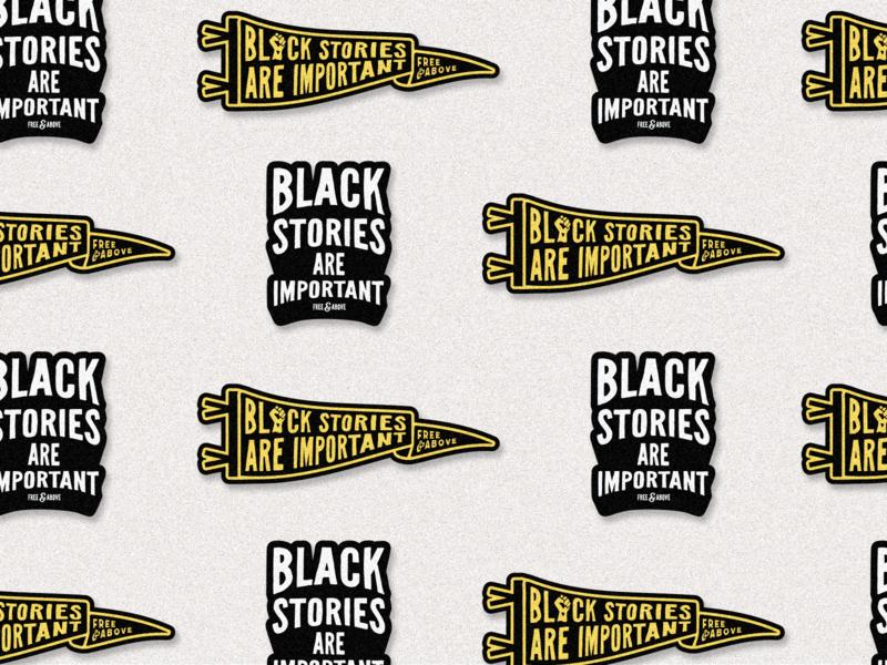 Black Stories are Important blm stickerspub stickers lettering typography logo flat illustration graphic design branding design