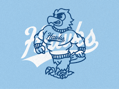 It's a great day to be a hawk! mascot roger rwu hawks branding design illustrator flat illustration graphic design branding design