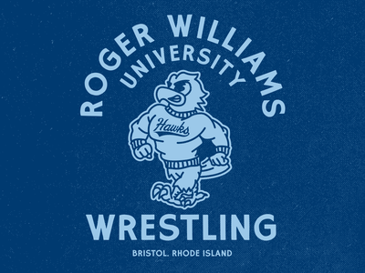 RWU Wrestling Club 🦅 lock up mascot hawk branding design illustrator flat illustration graphic design branding design