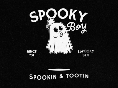 It's a spooky ghosty boy 👻 lockup scary horror halloween ghost spooky typography illustration graphic design branding design